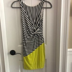Bebe dress size XS, black white and yellow.